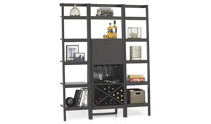 Heather Bar Cabinet (Black Finish)-2