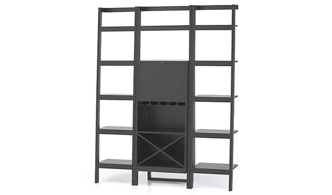 Heather Bar Cabinet (Black Finish)-3