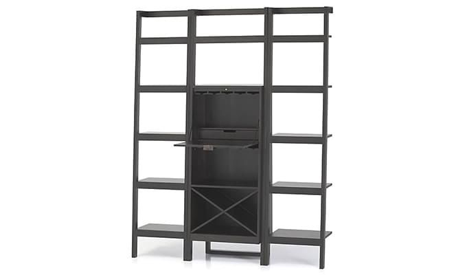Heather Bar Cabinet (Black Finish)-4