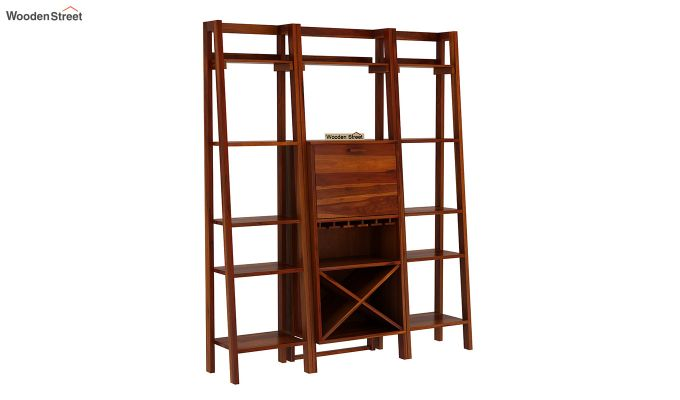 Heather Bar Cabinet (Honey Finish)-3