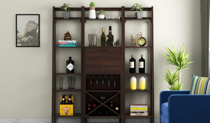 Heather Bar Cabinet (Walnut Finish)-2