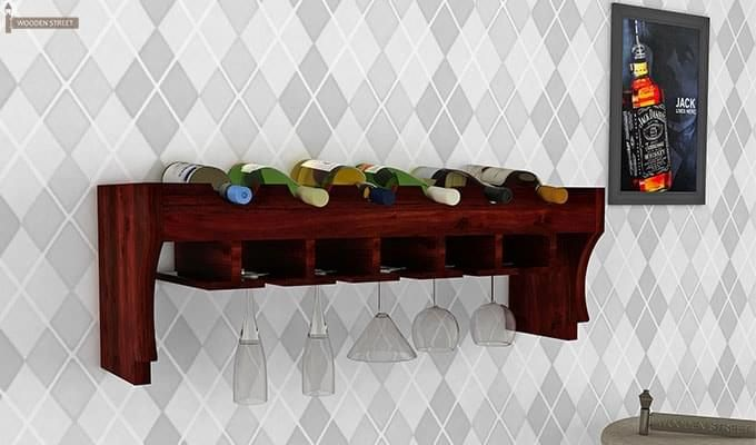 Hobart Wine Rack (Mahogany Finish)-1