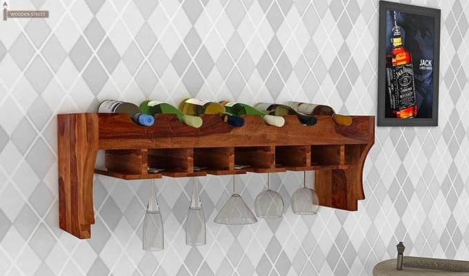 Hobart Wine Rack (Teak Finish)-1