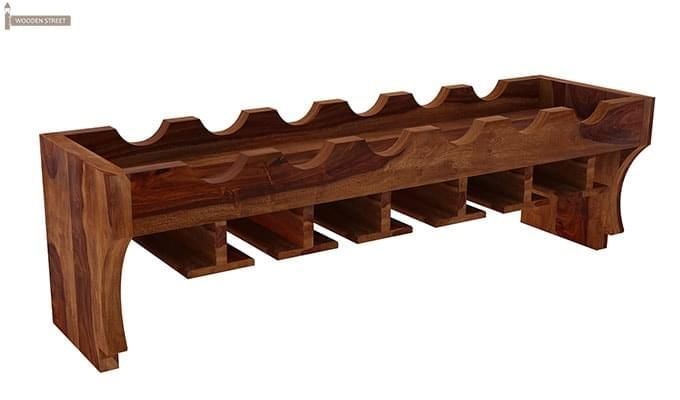 Hobart Wine Rack (Teak Finish)-2