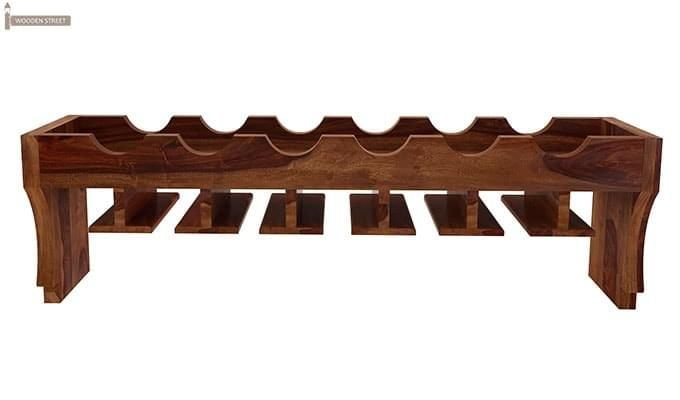 Hobart Wine Rack (Teak Finish)-3