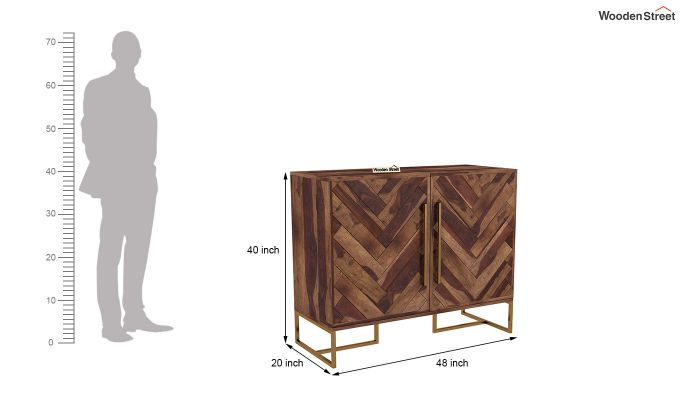 Jett Bar Cabinet (Teak Finish)-6