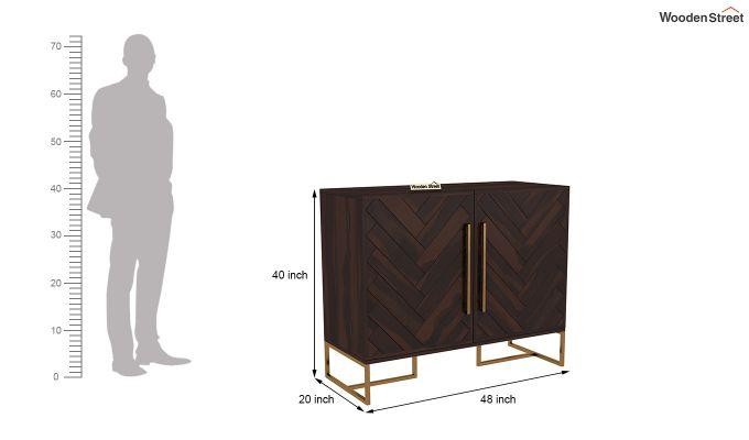 Jett Bar Cabinet (Walnut Finish)-6