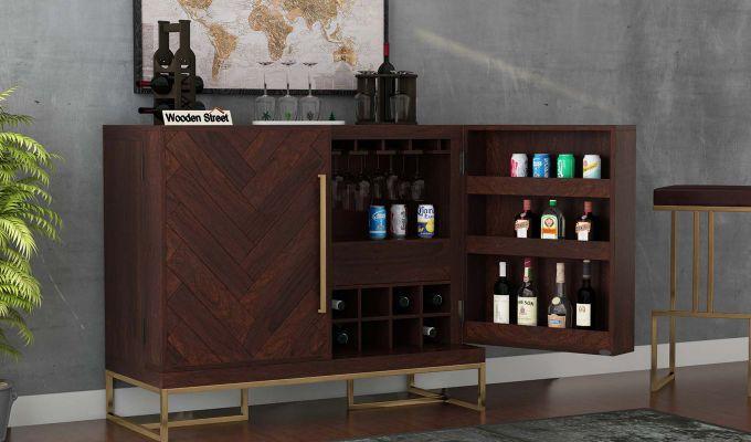 Jett Bar Cabinet (Walnut Finish)-1