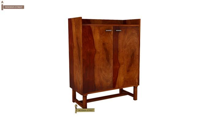 Keinz Bar Cabinet (Honey Finish)-2