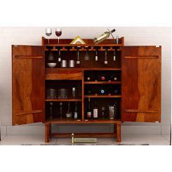 Keinz Bar Cabinet (Honey Finish)