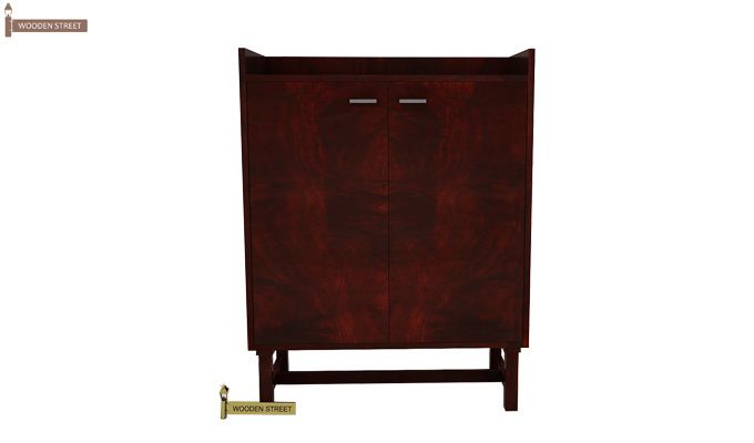 Keinz Bar Cabinet (Mahogany Finish)-2