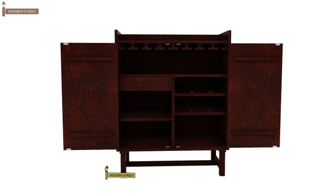 Keinz Bar Cabinet (Mahogany Finish)-3