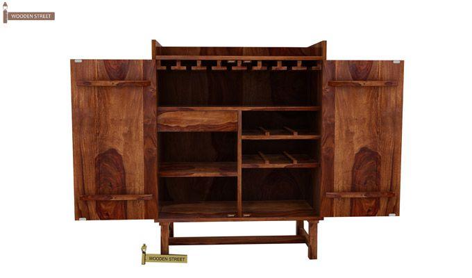 Keinz Bar Cabinet (Teak Finish)-3