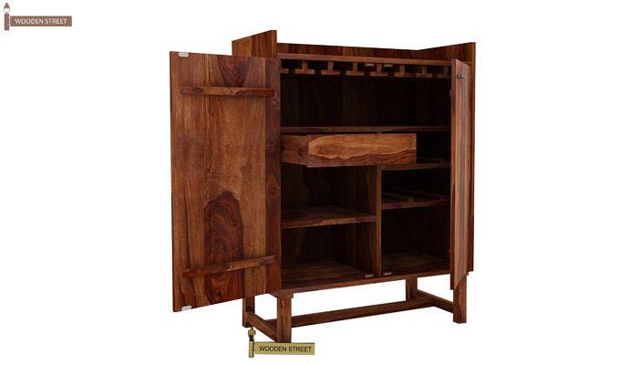 Keinz Bar Cabinet (Teak Finish)-4