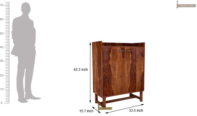 Keinz Bar Cabinet (Teak Finish)-5