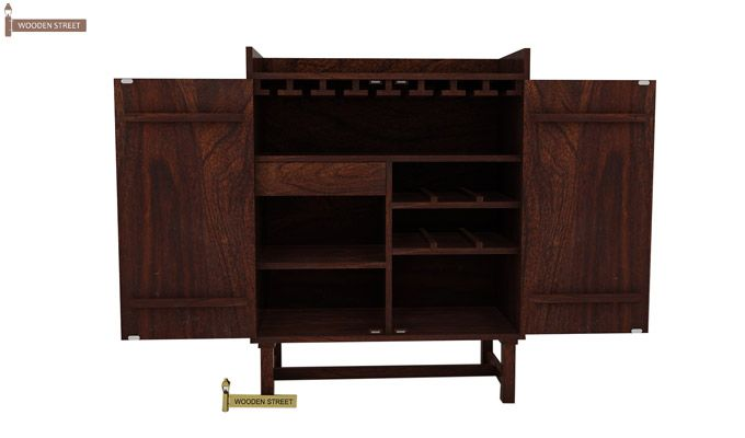 Keinz Bar Cabinet (Walnut Finish)-3