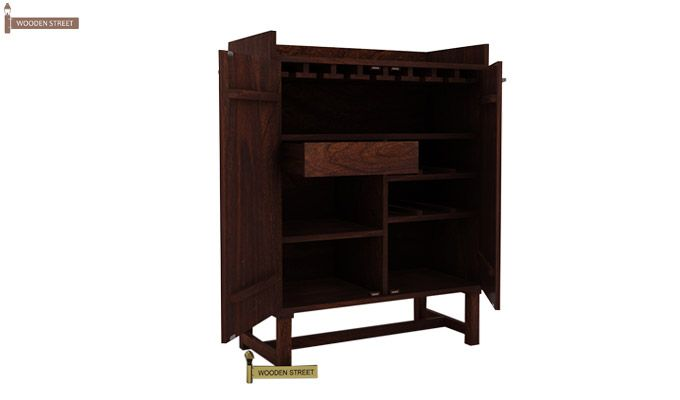 Keinz Bar Cabinet (Walnut Finish)-4