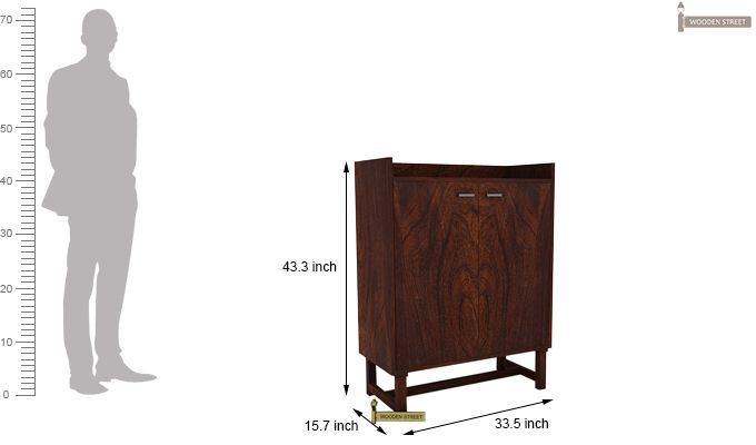 Keinz Bar Cabinet (Walnut Finish)-5