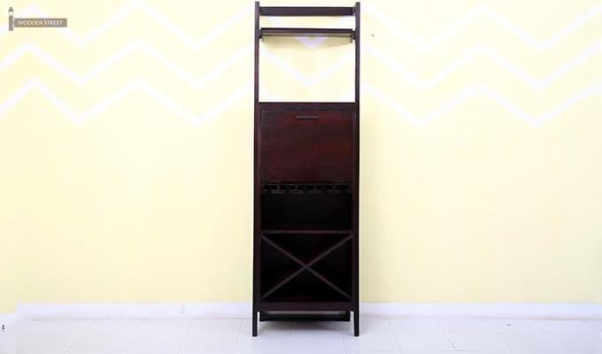 Loire Bar Cabinet (Mahogany Finish)-4