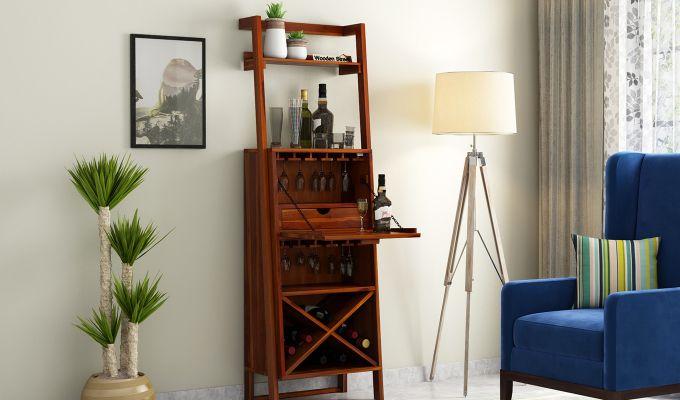 Loire Bar Cabinet (Honey Finish)-2