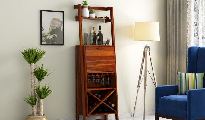 Loire Bar Cabinet (Honey Finish)-1