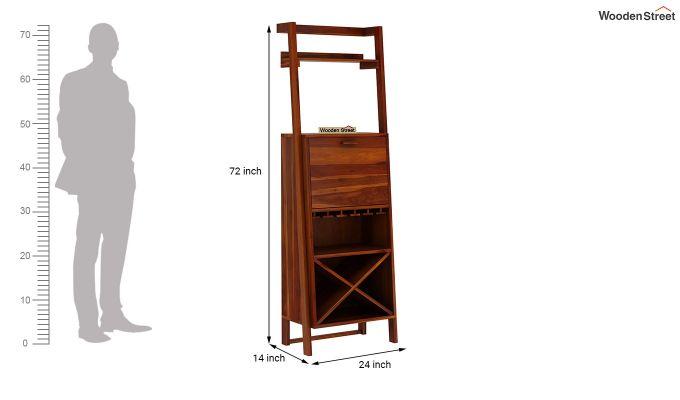 Loire Bar Cabinet (Honey Finish)-7