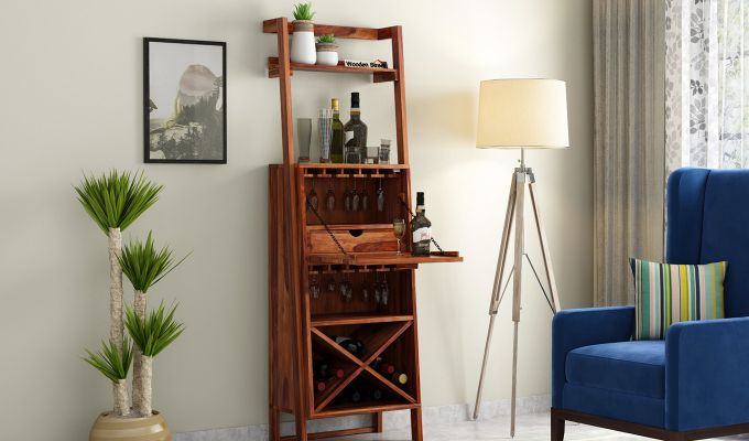 Loire Bar Cabinet (Teak Finish)-2