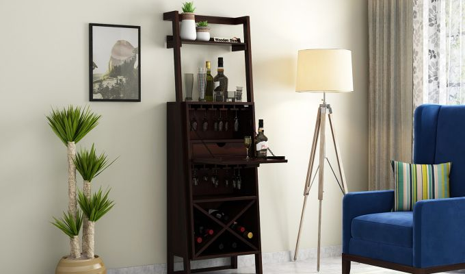 Loire Bar Cabinet (Walnut Finish)-2