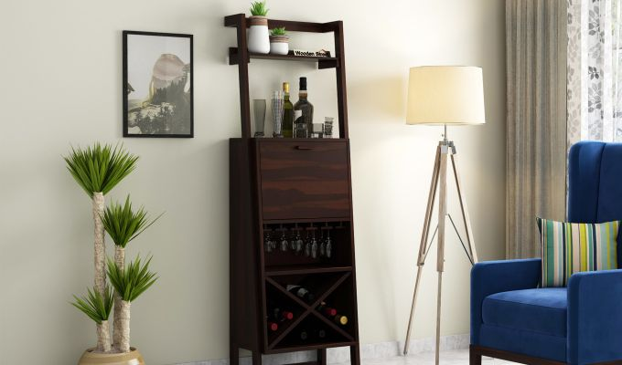 Loire Bar Cabinet (Walnut Finish)-1