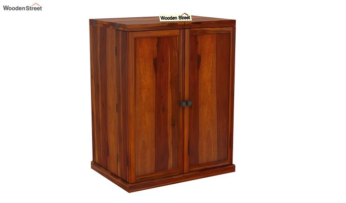 Loreto Bar Cabinet (Honey Finish)-3