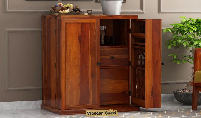 Loreto Bar Cabinet (Honey Finish)-1