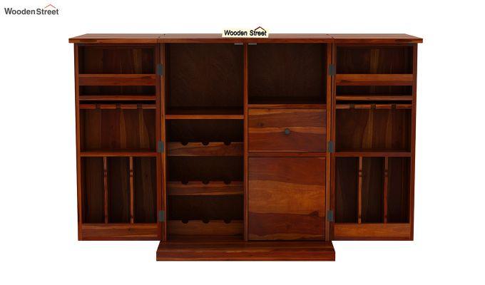 Loreto Bar Cabinet (Honey Finish)-6