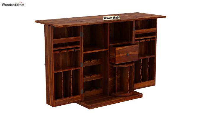 Loreto Bar Cabinet (Honey Finish)-7