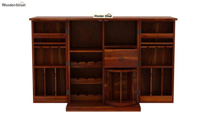 Loreto Bar Cabinet (Honey Finish)-8