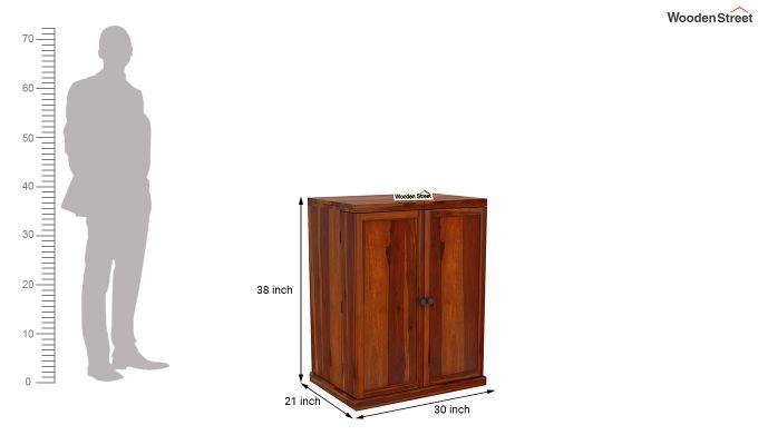 Loreto Bar Cabinet (Honey Finish)-9