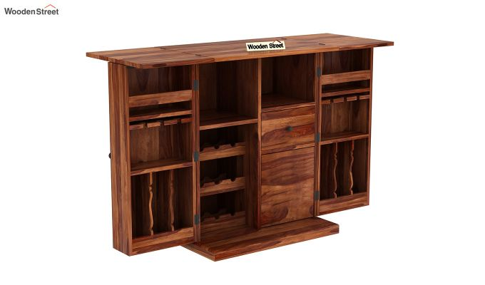 Loreto Bar Cabinet (Teak Finish)-5