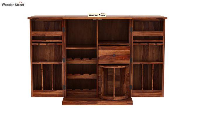 Loreto Bar Cabinet (Teak Finish)-8