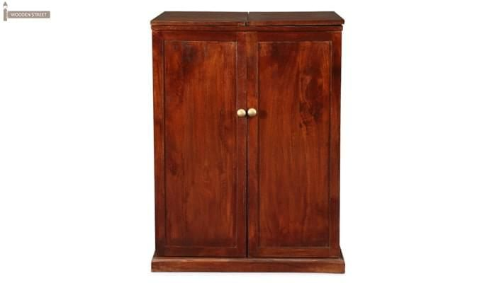 Loreto Bar Cabinet (Honey Finish)-2