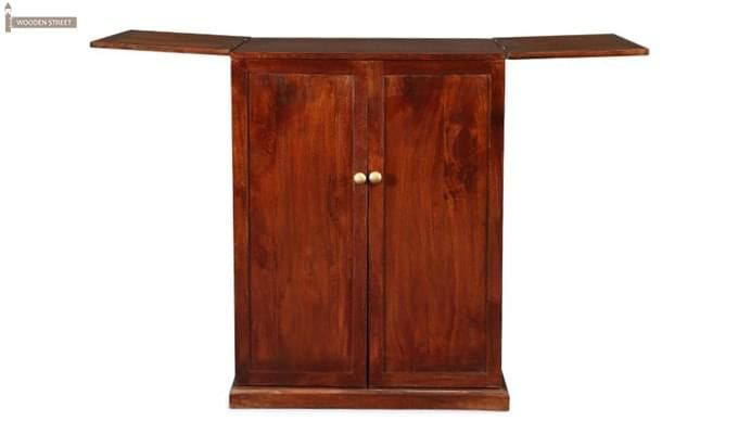 Loreto Bar Cabinet (Honey Finish)-3