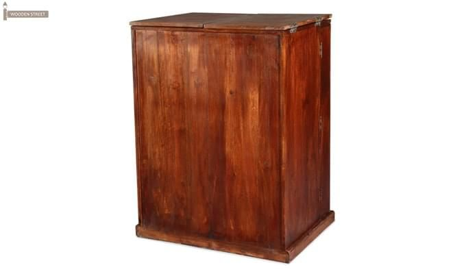 Loreto Bar Cabinet (Honey Finish)-4
