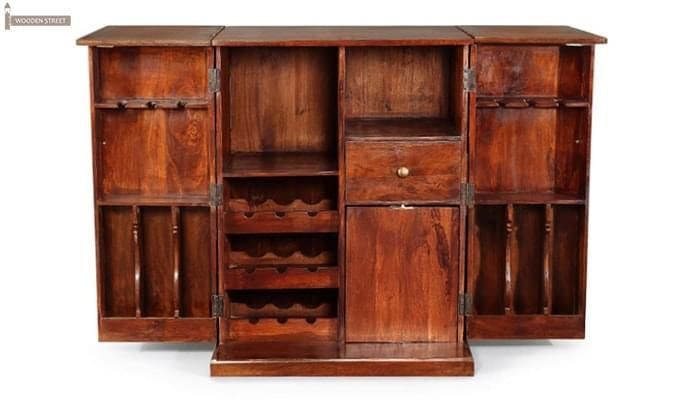 Loreto Bar Cabinet (Honey Finish)-6