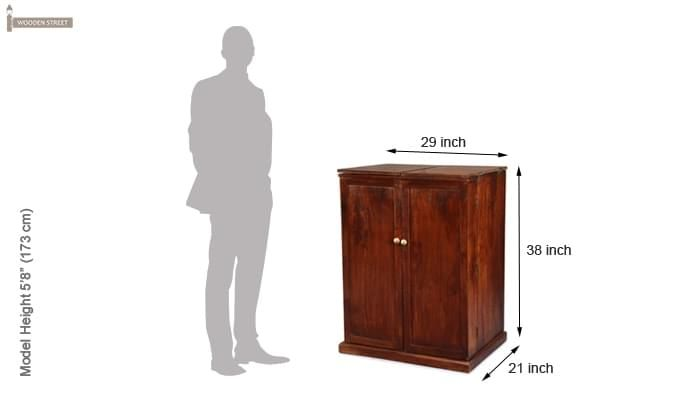 Loreto Bar Cabinet (Honey Finish)-8