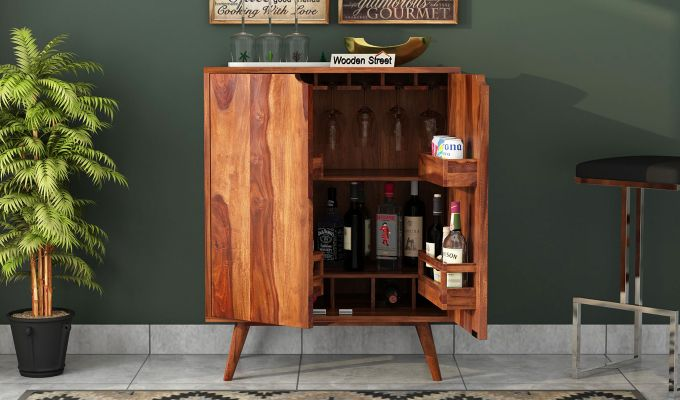Lynton Bar Cabinet (Teak Finish)-3