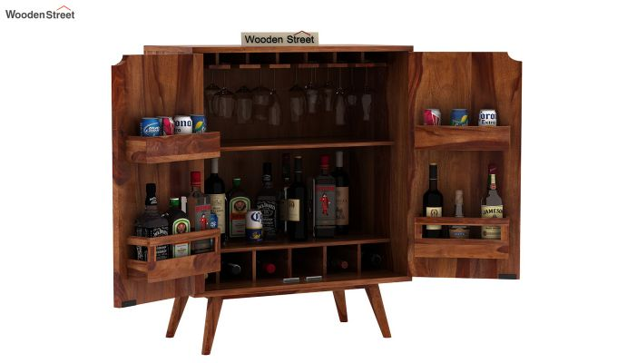 Lynton Bar Cabinet (Teak Finish)-7
