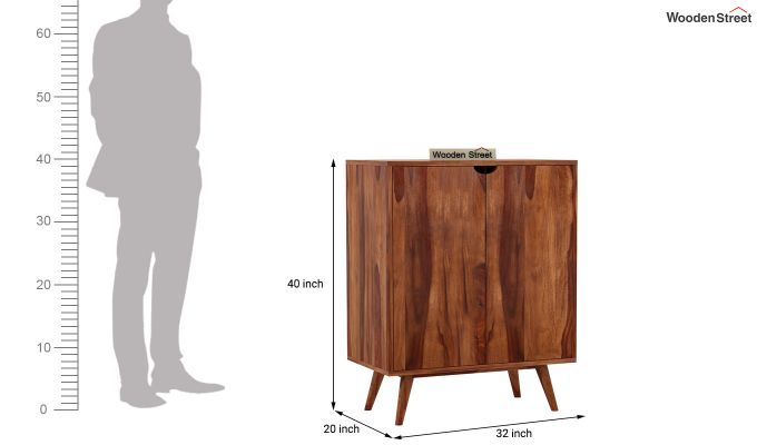 Lynton Bar Cabinet (Teak Finish)-11