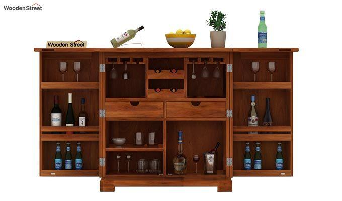 Malus Bar Cabinet (Honey Finish)-3