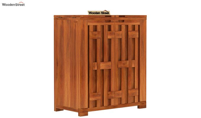 Malus Bar Cabinet (Honey Finish)-4