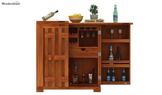 Malus Bar Cabinet (Honey Finish)-6