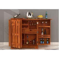 Malus Bar Cabinet (Honey Finish)