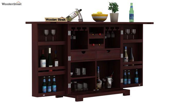 Malus Bar Cabinet (Mahogany Finish)-1